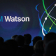 Attendees gather at IBM Watson event in lower Manhattan, New York